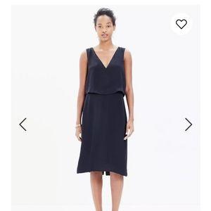 Madewell black silk dress size 10